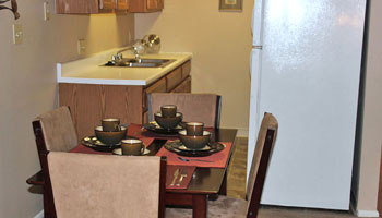 Kitchen of apartments in Cedar Rapids, IA