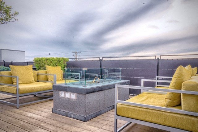 rooftop fire pit area