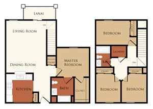 Four Bedroom, Two Bath