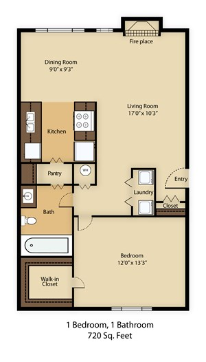1195 1 bed 1 bath 720 square feet sq ft apply now 1 bedroom 1 bathroom