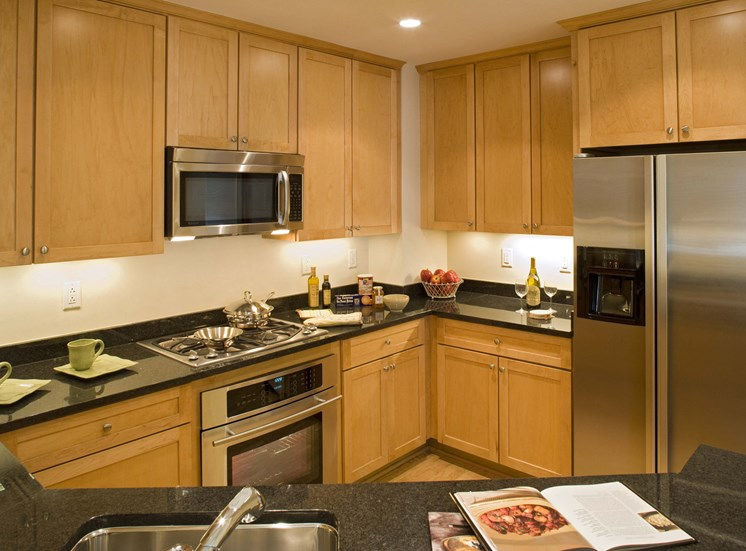 Solid Maple Cabinets; Granite Counters