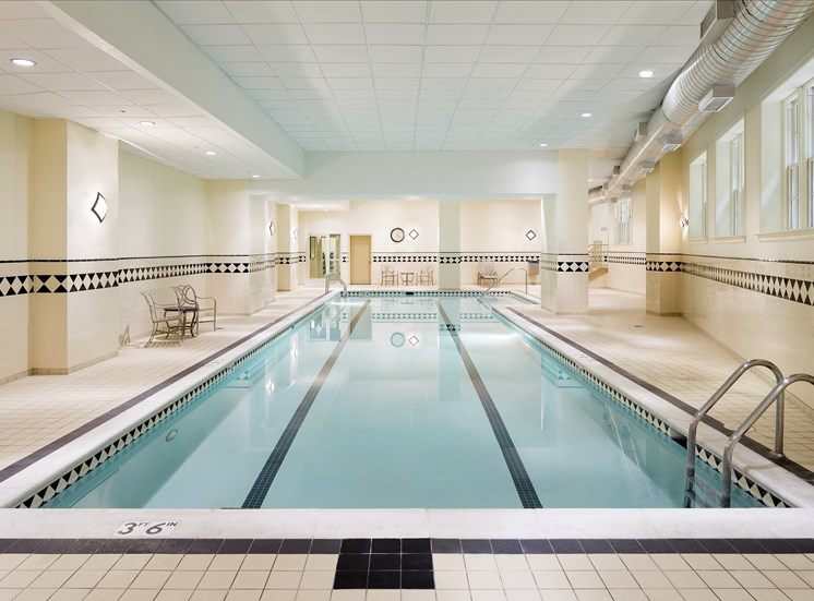 heated indoor lap pool