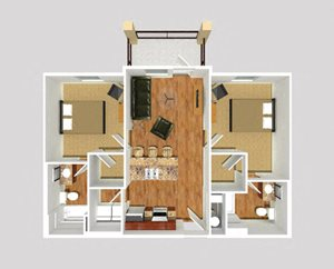 2 Bedroom - Linear