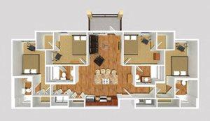 4 Bedroom - Linear