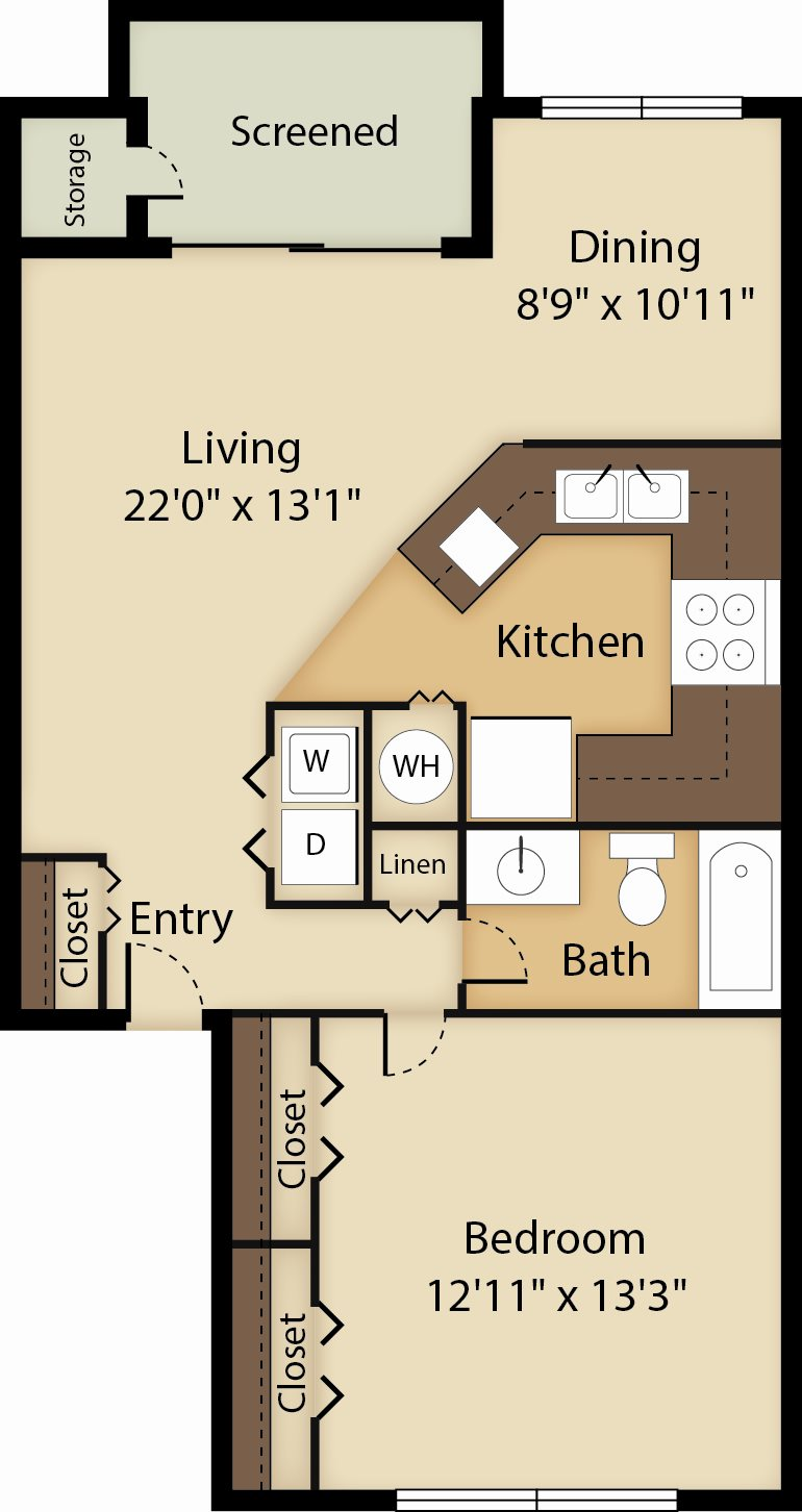 The Palm Floor Plan 1