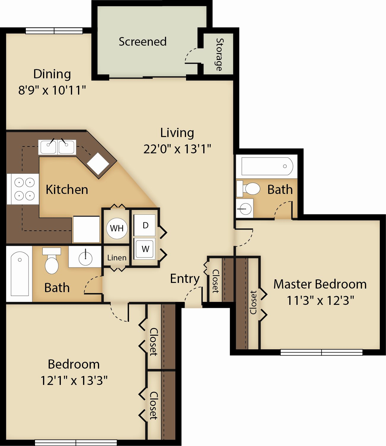 The Sabal Floor Plan 3