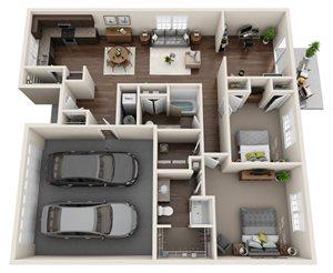 Ledgewood: Den, 2-Car Garage