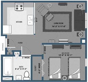 Eaton Place - 1 Bed, 1 Bath