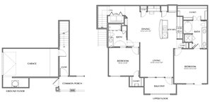 C5-Montgomery, 2x2 1289sf (with attached garage)