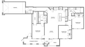 D1-King, 3x2 1437sf (with attached garage)