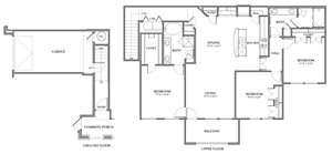 D2-Majestic, 3x2 1496sf (with attached garage)