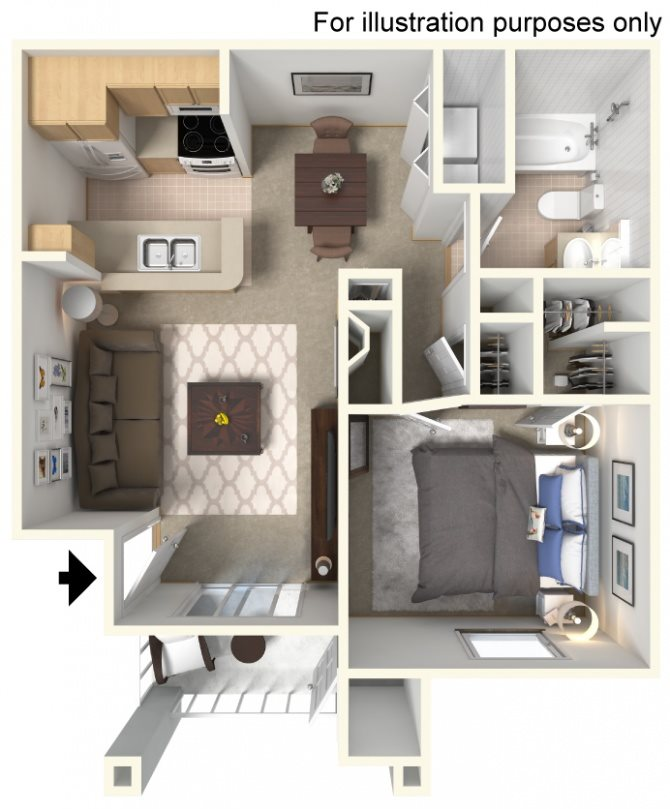 Marina (Lower Unit) Floor Plan 1