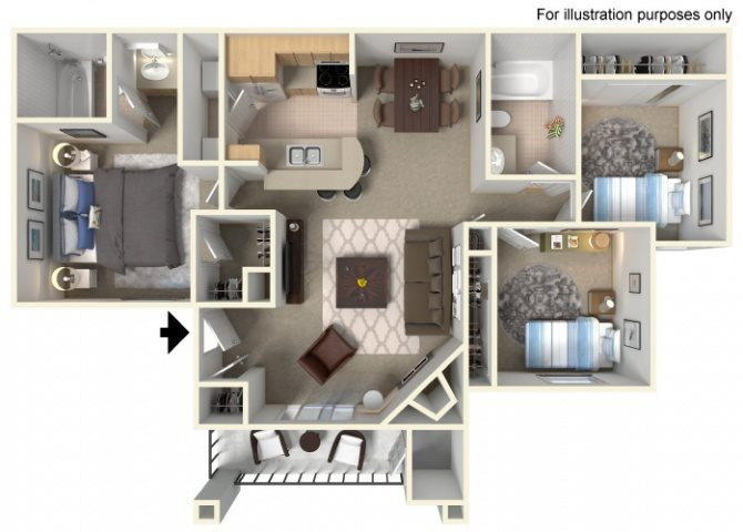 Pacifica (Lower unit) Floor Plan 5