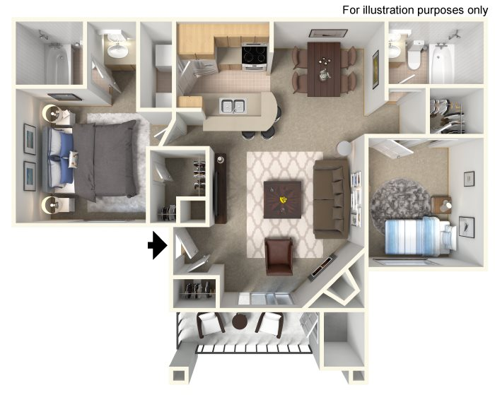 Laguna (Lower Unit) Floor Plan 3