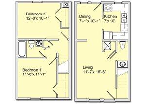 Phase I - 2 Bed 1.5 Bath Townhouse B