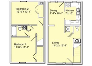 Phase I - 2 Bed 1.5 Bath Townhouse A