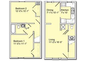 Phase I - 2 Bed 1 Bath Townhouse
