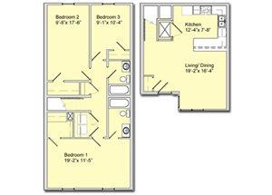 Phase I - 3 Bed 2 Bath Townhouse B