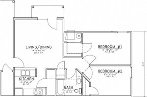 "2 Bedroom ""B"""