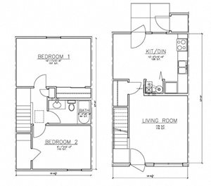 2 Bedroom TH