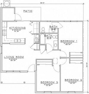 2 Bedroom Unit w/Den Ranch