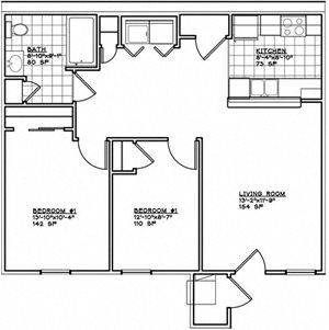 2 Bedroom Unit Midrise