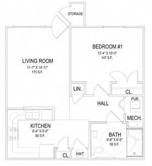 1 Bedroom Handicap Unit