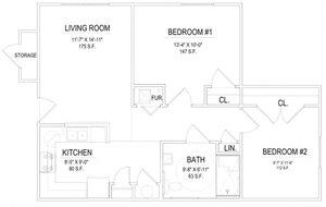 2 Bedroom Handicap Unit