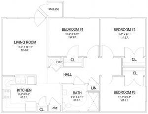 3 Bedroom Handicap Unit