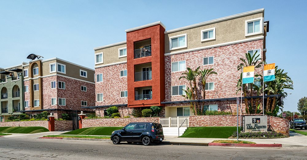Luxury Apartments for Rent in Woodland Hills - Exterior View of Our Beautifully Landscaped Building Complex