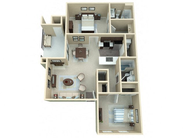 2 Bedroom Floor Plan 4