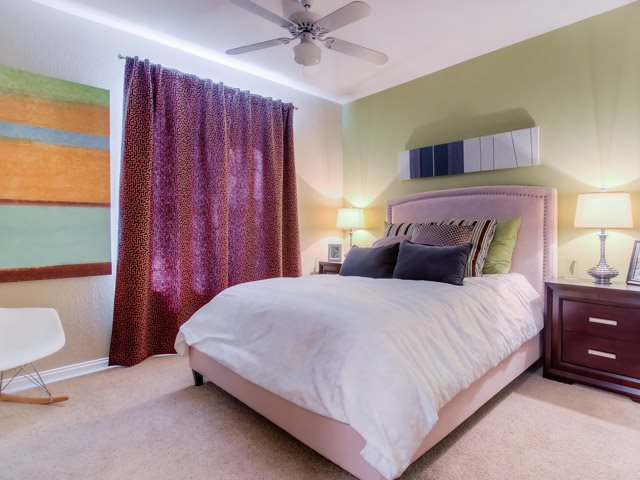 Live in cozy bedrooms at The Hills at Quail Run Apartments, California, 92507