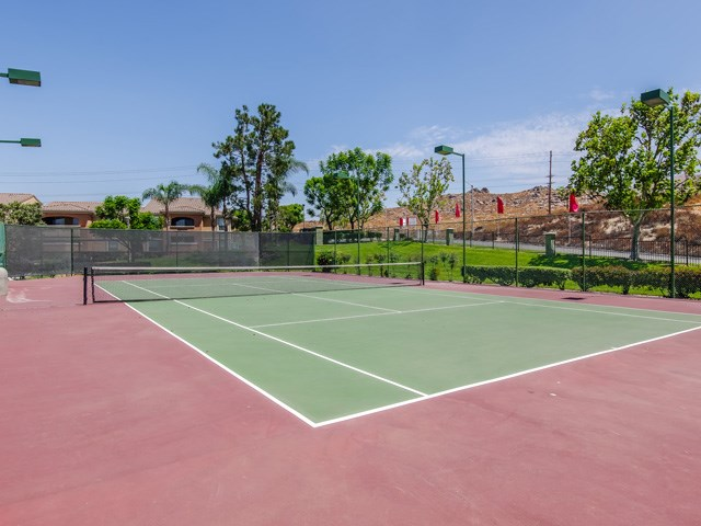 Synthetic Tennis Courts at The Hills at Quail Run Apartments, Riverside, 92507