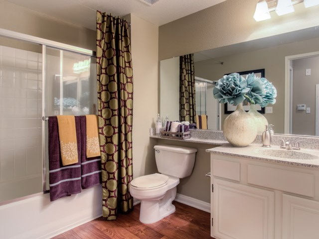 Spacious Bathrooms at The Hills at Quail Run Apartments, Riverside, California