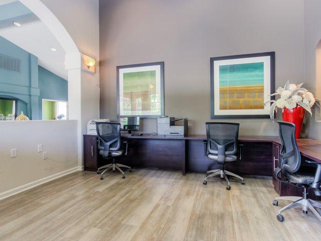 Business Center With WiFi at The Hills at Quail Run Apartments, 5059 Quail Run Road, CA