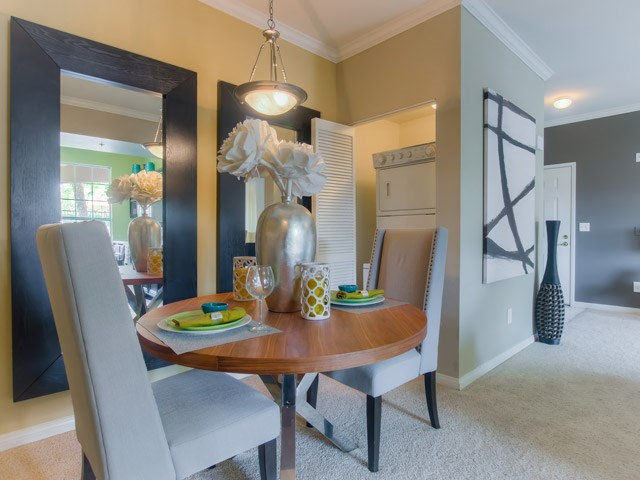 Separate Dining Area at The Hills at Quail Run Apartments, 5059 Quail Run Road