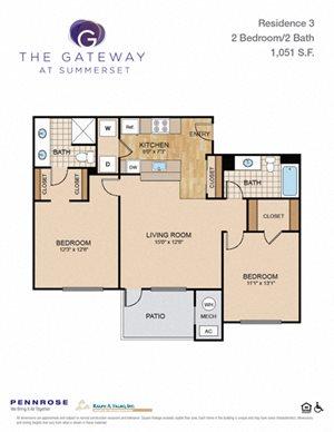 2 bedroom luxury apartment unit in Squirrel Hill