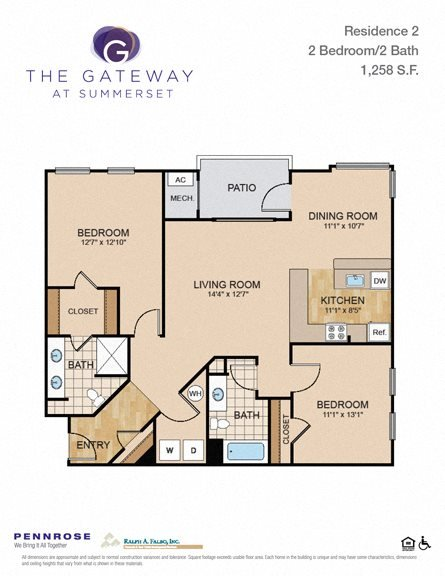 2 bedroom luxury apartment unit Pittsburgh