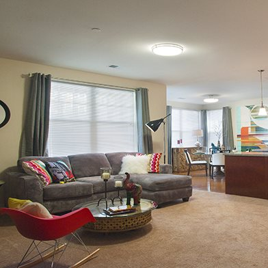 spacious living rooms in Pittsburgh, PA