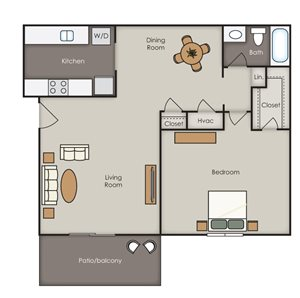 Magnolia Villas Apartment Homes - 1 Bedroom 1 Bath Apartment