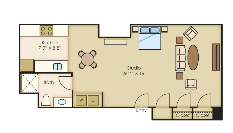 The Cannery Lofts Apartment Homes - Studio Apartment