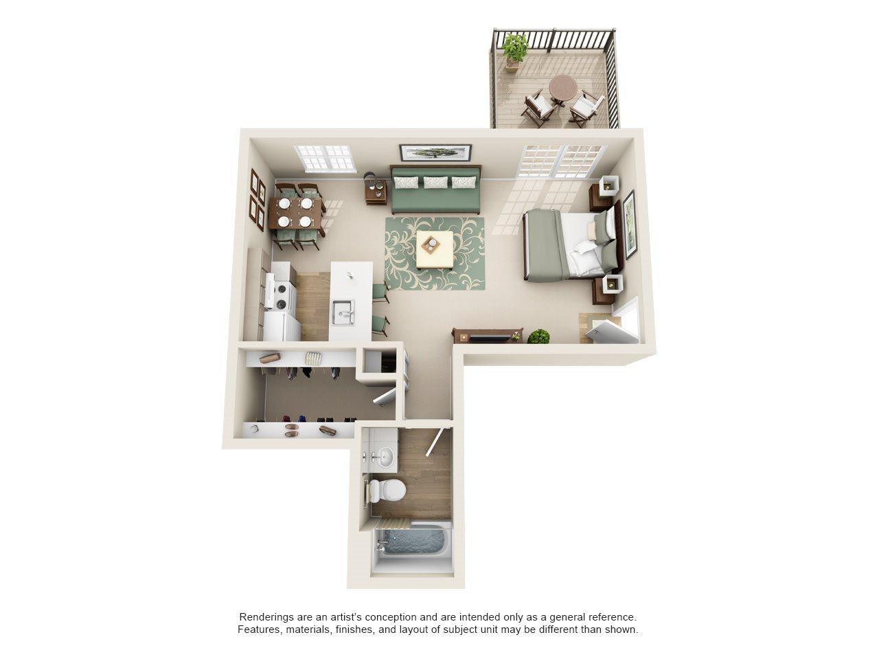 Williamsburg of Cincinnati Apartment Homes - Studio 1 Bath Apartment