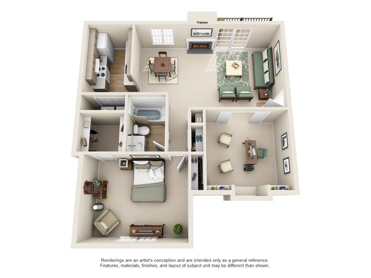Williamsburg of Cincinnati Apartment Homes - 1 Bedroom 1 Bath Apartment