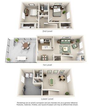 Williamsburg of Cincinnati Apartment Homes - 2 Bedroom 1.5 Bath Apartment