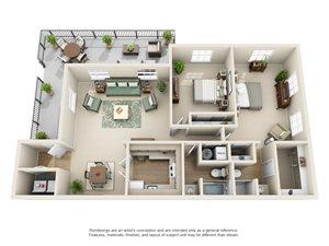 Williamsburg of Cincinnati Apartment Homes - 2 Bedroom 2 Bath Apartment