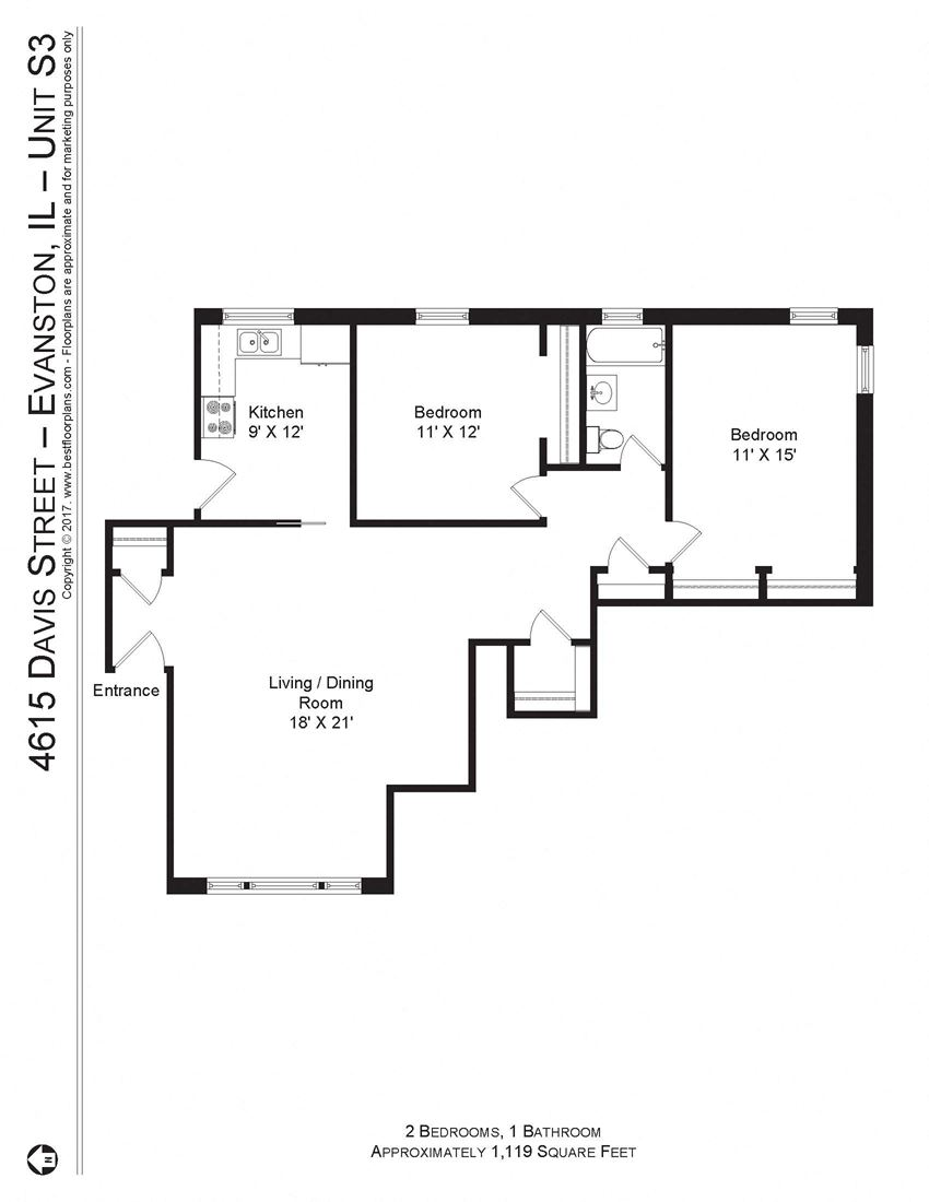 4615 Davis Two Bedroom