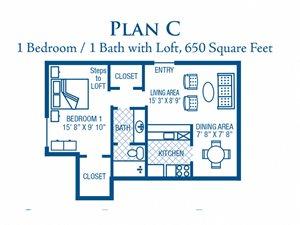 1 Bedroom / 1 Bath (Loft)