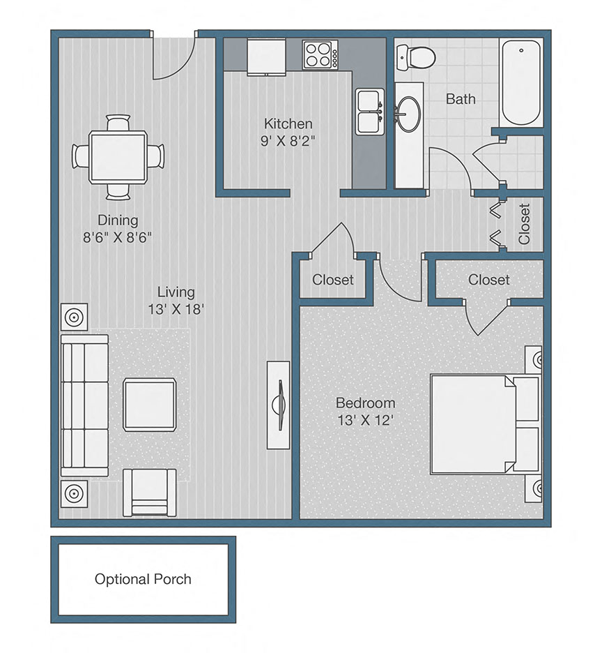 1 Bedroom, Raleigh, NC, Apartments, Rentals