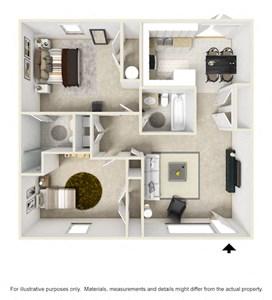 Mountain View Apartments Oxford AL Anniston, AL 36207 2 bedroom 2 bathroom 3-D Furnished floor plan