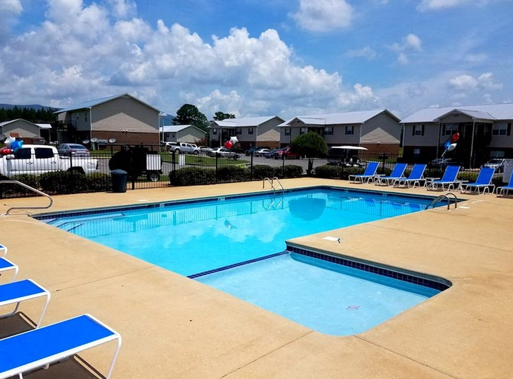 Mountain View Apartments Oxford AL Anniston, AL 36207 swimming pool with new pool furniture